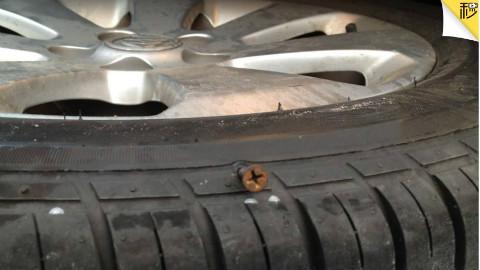 轮胎扎钉后还能用吗?