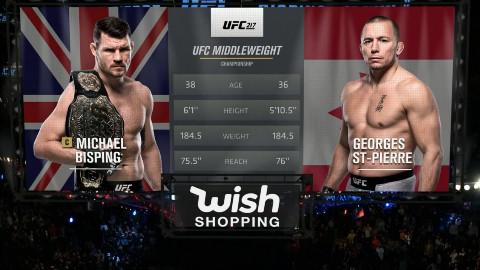 UFC 217 迈克尔·比斯平 VS GSP-乔治·圣-皮埃尔