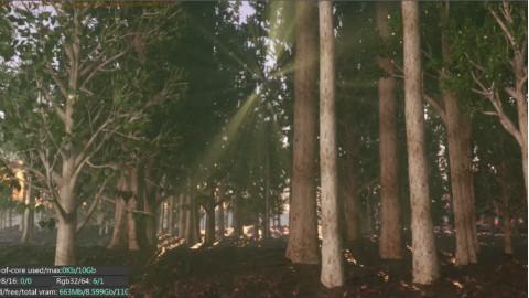 七喜:C4D森林场景制作-OC渲染