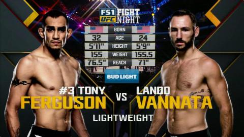 UFC:夜魔 托尼-弗格森 VS 大浪 兰登-万纳塔