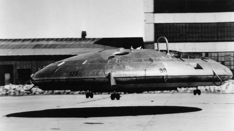 【讲堂362期】冷战初期美国秘密飞碟,外观科幻,性能却很差,只能飞1米高