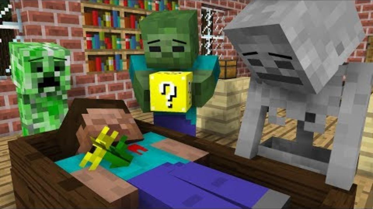 我的世界:怪物学院另类搞笑版我的世界之幸运方块游戏挑战
