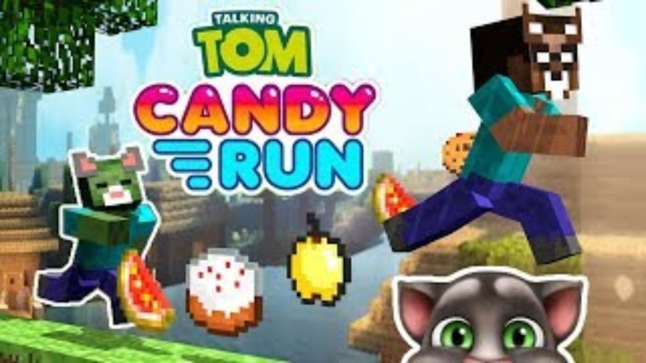 我的世界:怪物学院另类搞笑版我的世界之汤姆猫糖果酷跑