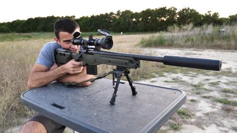 最安静的狙击步枪,消音器+亚音速.308