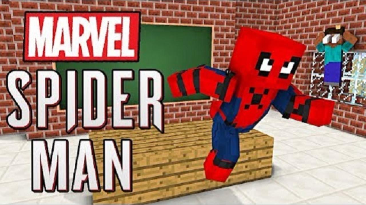 我的世界:怪物学院另类搞笑版我的世界之漫威蜘蛛侠来了