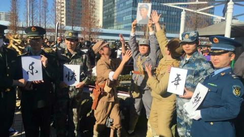 """""""解放军驻日本部队""""惊现日本街头,中国有精日,日本也有精中"""