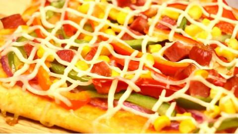 鲜蔬披萨——烘焙小时光