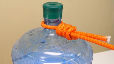一生受用的8种绳子打结方法,3分钟就能学会,家家户户都用的到