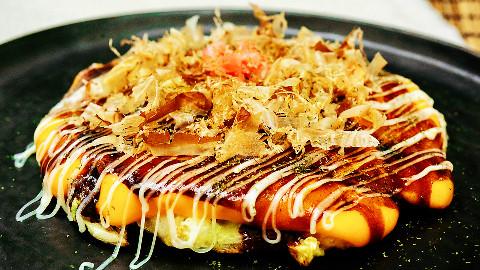 日本的煎饼果子【大阪烧】,简单又正宗在家也能吃丨绵羊料理