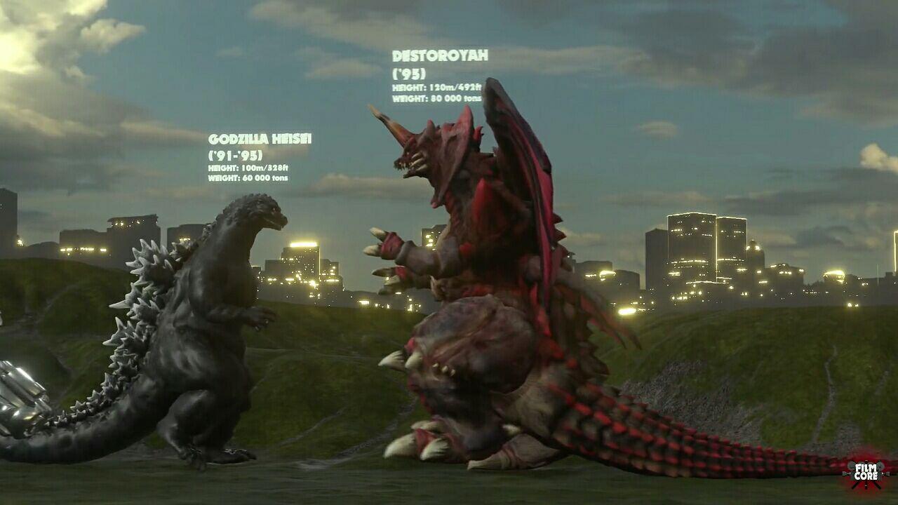 历代哥斯拉系列怪兽对比(1954-2014)