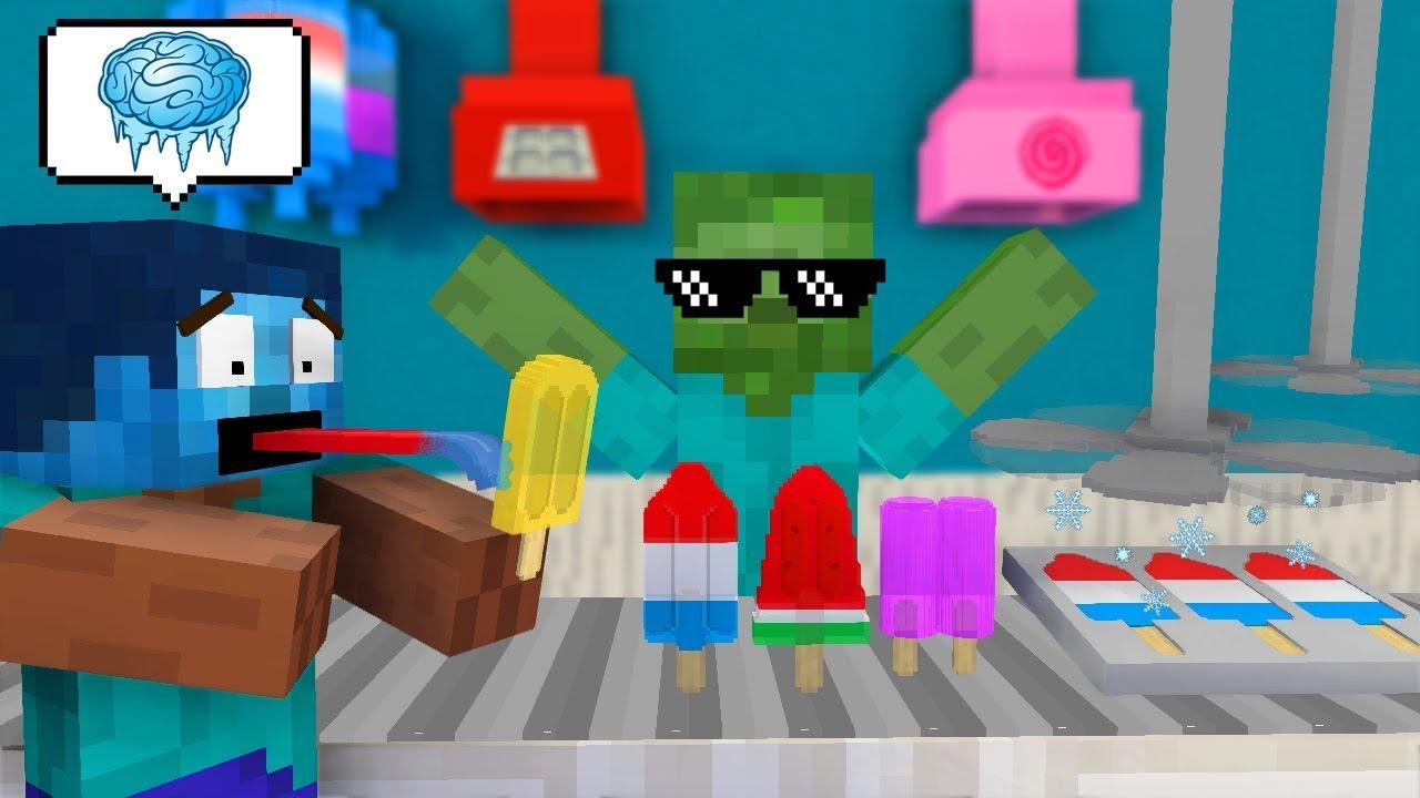 我的世界:怪物学院另类搞笑版我的世界之雪糕店打工奇遇记