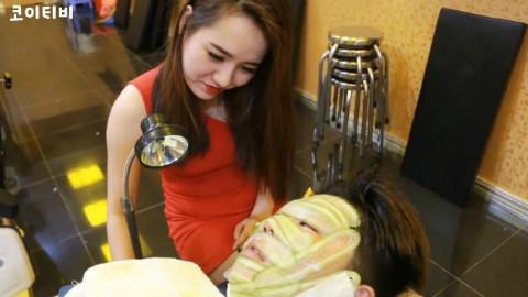 【放松向】越南理发店从头到脚放松按摩