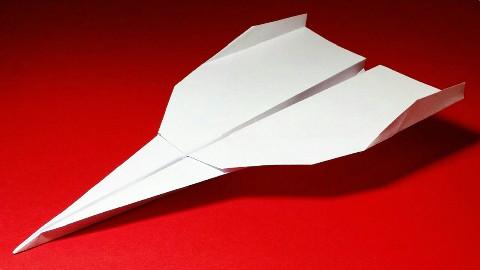 飞得最远的纸飞机,很多人见过却不会折,终于找到折纸教程了!