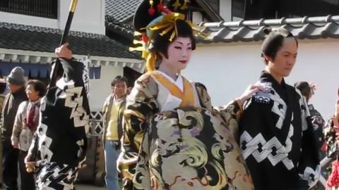日本花魁出游表演