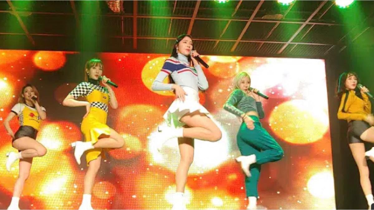 韩国美女热舞团,训练也是这么认真