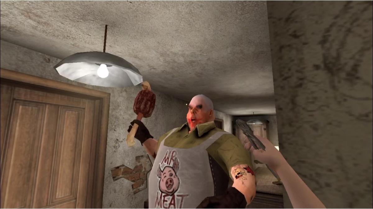 恐怖游戏[肉先生]木鱼挑战困难模式结果屠夫被BUG控制