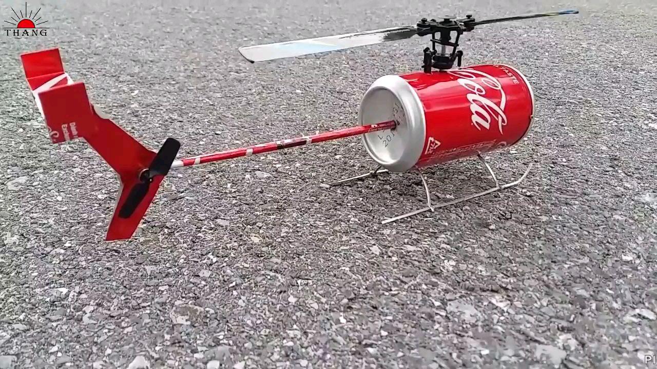 达人自制易拉罐遥控直升机