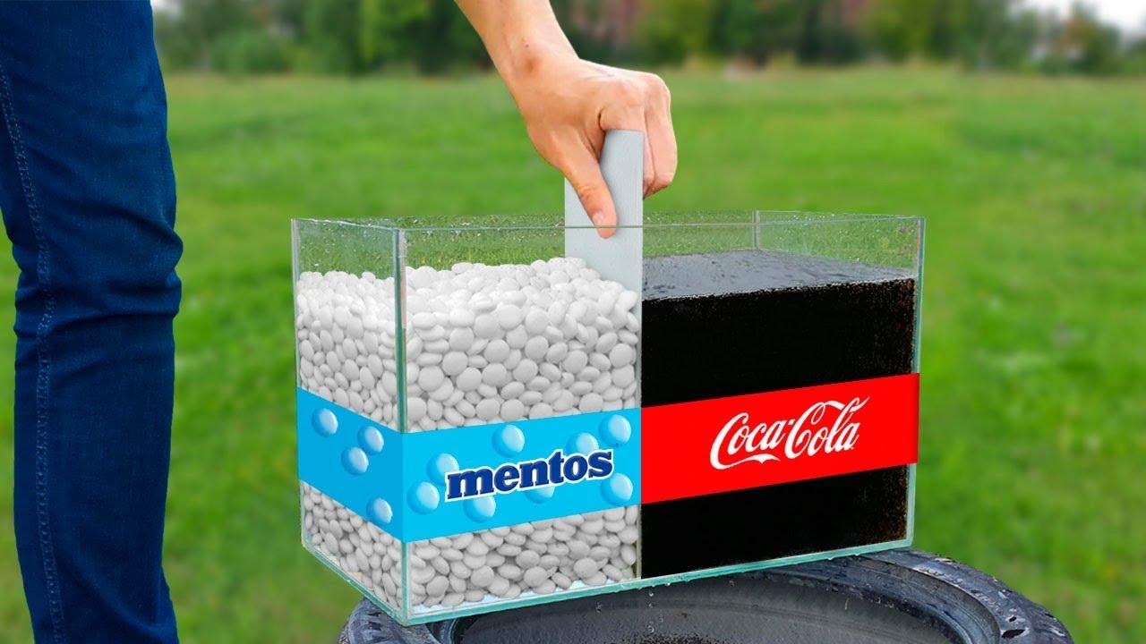 可口可乐和薄荷糖混合在一起后会发生什么?