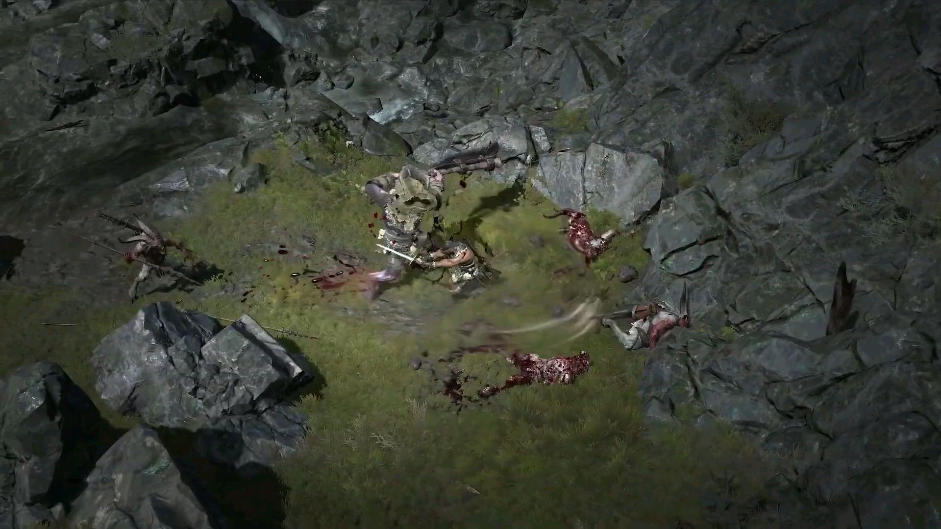 《暗黑破坏神4》实际游戏画面演示