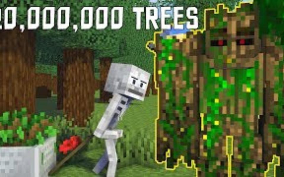 我的世界:搞笑版怪物学院,种植20000000棵树