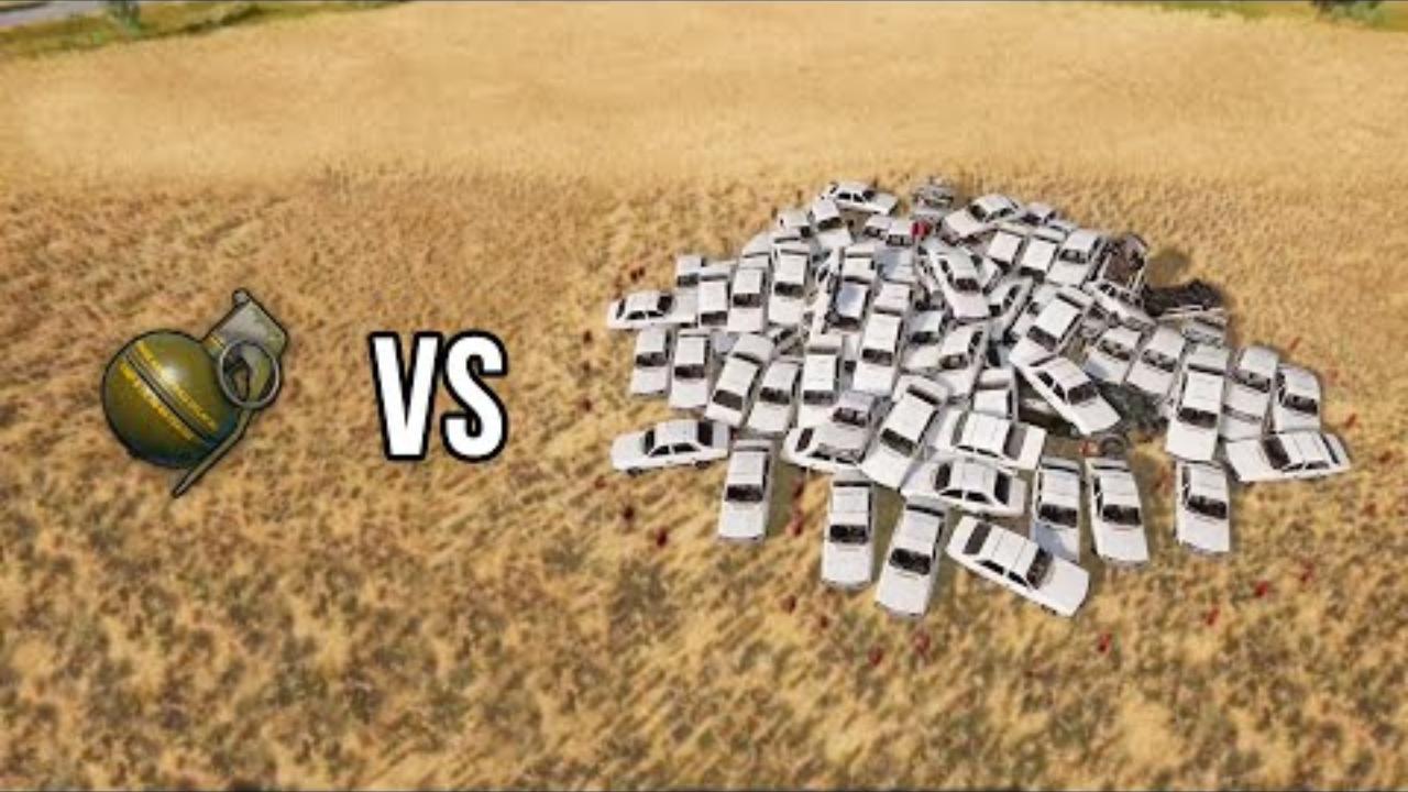 绝地求生:吃鸡搞笑集锦,一颗手雷vs一堆车