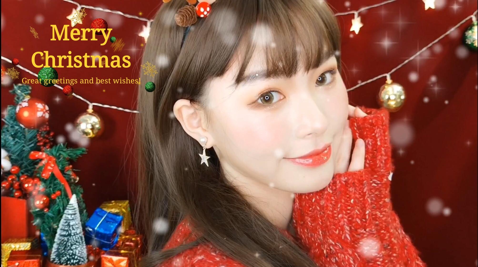 圣诞快乐|新人来报道,甜甜的圣诞妆