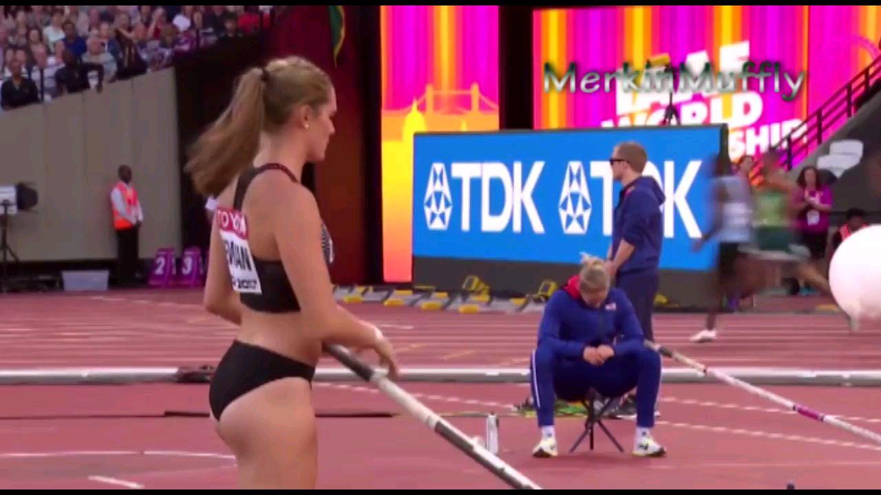 发现运动之美,加拿大撑杆跳美女运动员