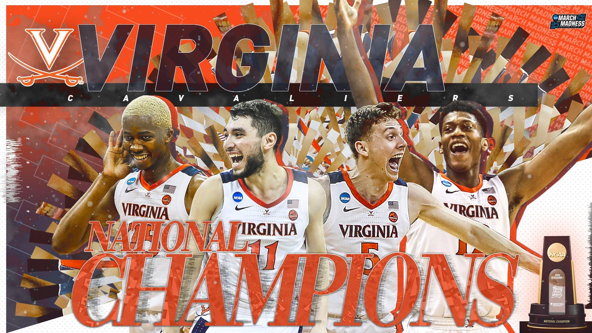 NCAA2018-19赛季决赛弗吉尼亚战胜德州理工首次夺冠