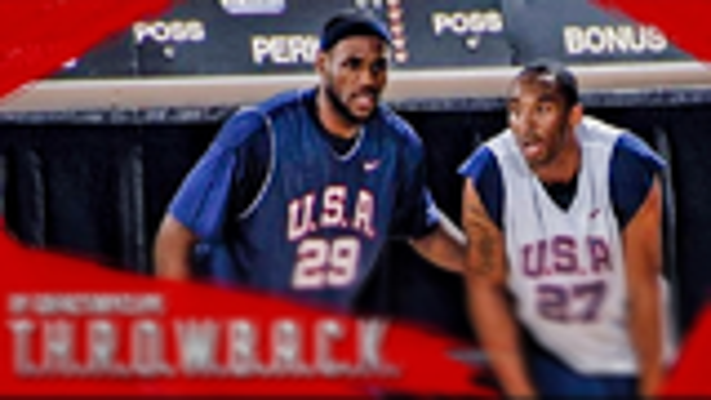 秒杀全明星!07年美国男篮队内对抗赛,科比vs詹姆斯,火药味十足的24vs23!