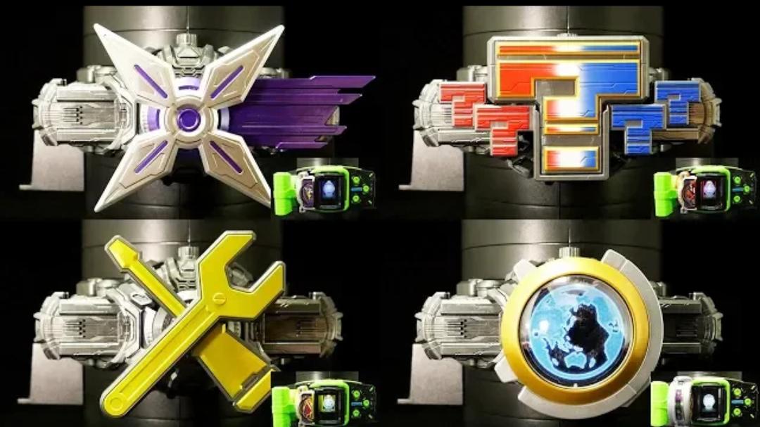 『转载』【K2eizo】假面骑士Shinobi/Quiz/Kikai/Ginga 未来骑士腰带把玩视