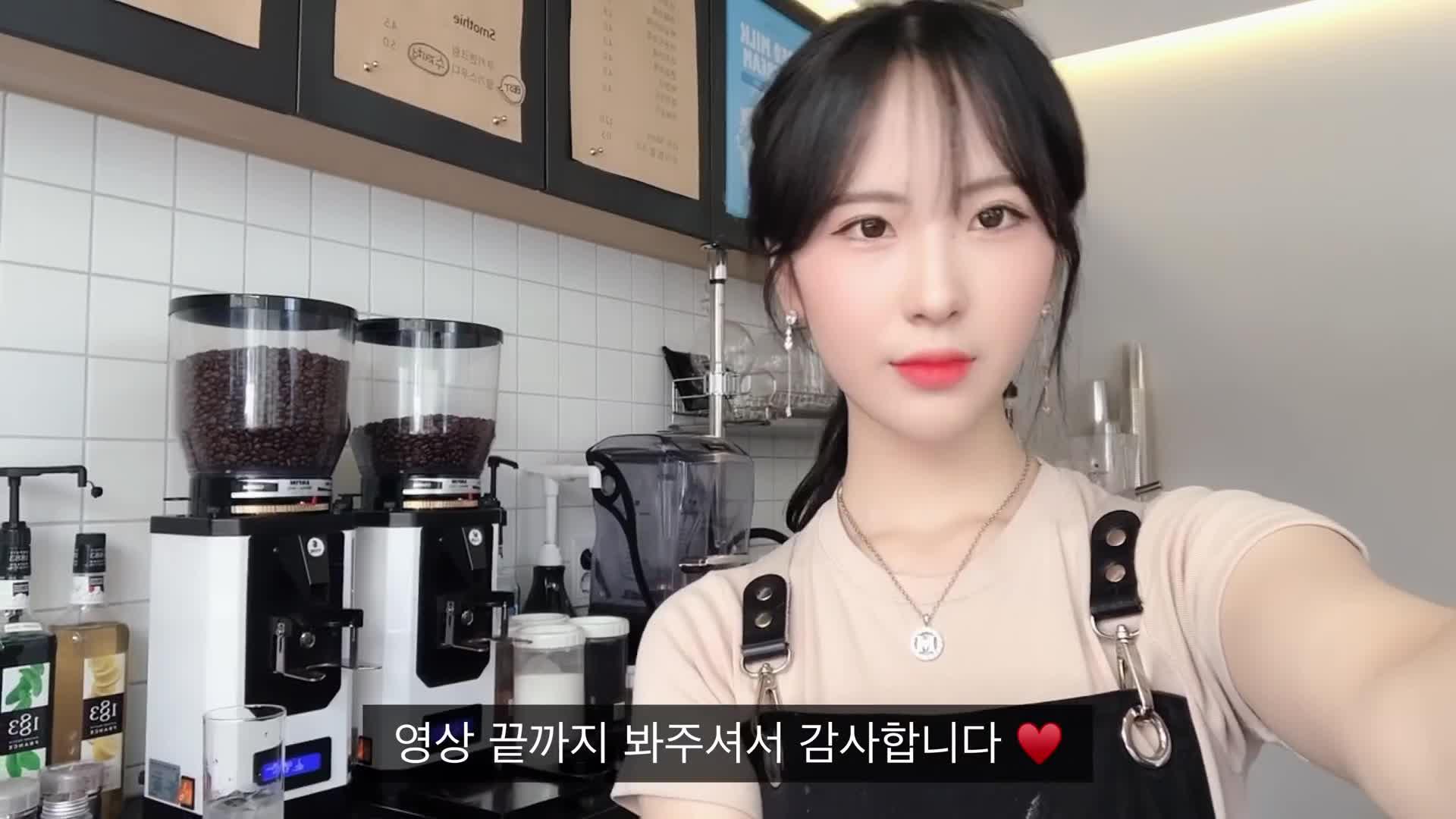 韩国小姐姐奶茶店工作日常vlog
