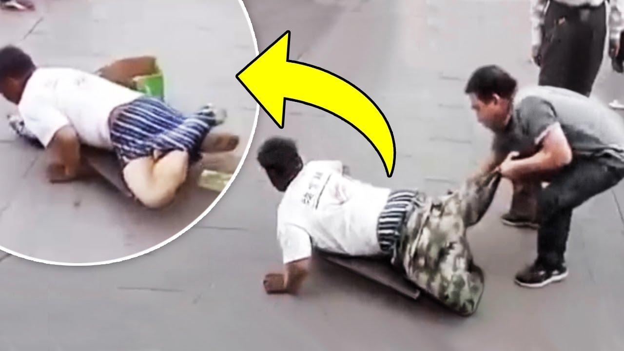 8大当场被路人赤裸裸揭穿的假冒乞丐,太狠了直接被扒了个精光!