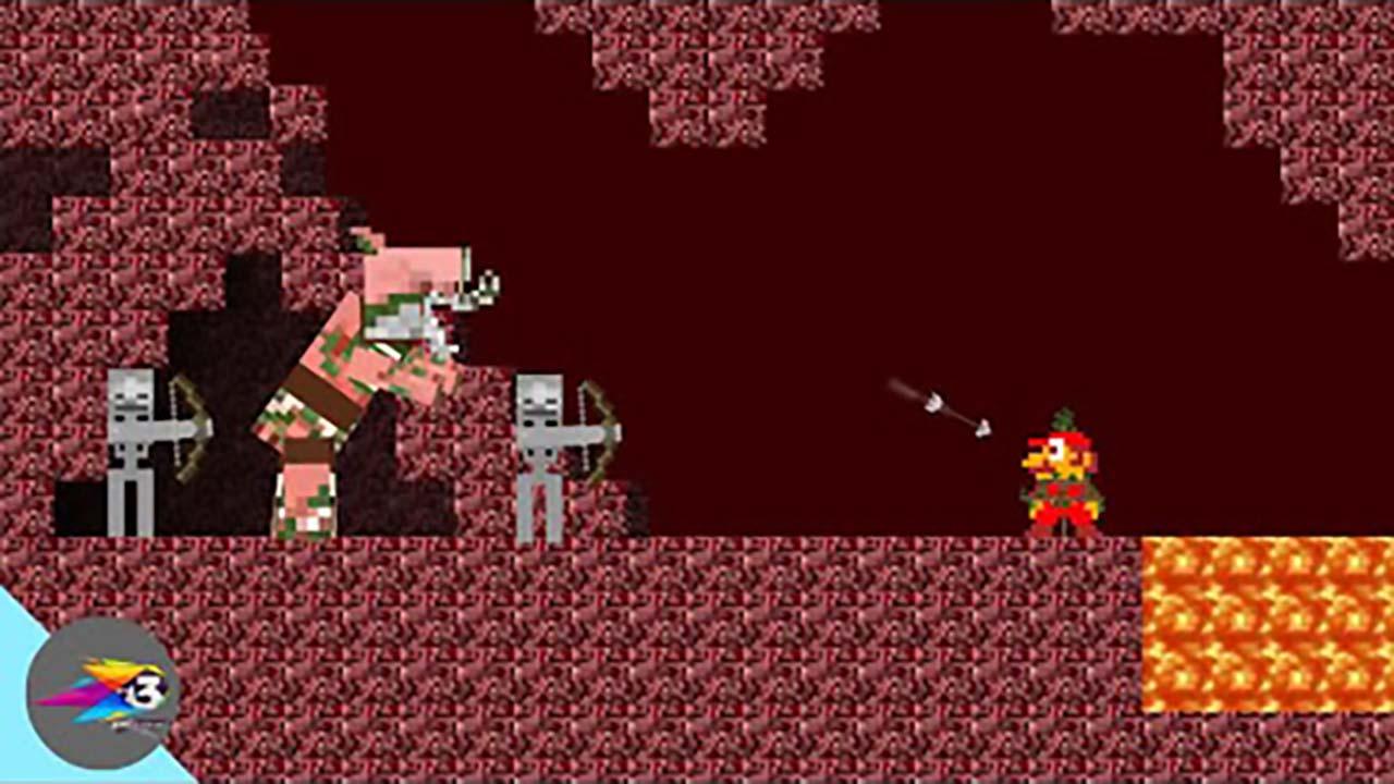 超级玛丽:马里奥超搞笑动画,当马里奥来到地底世界