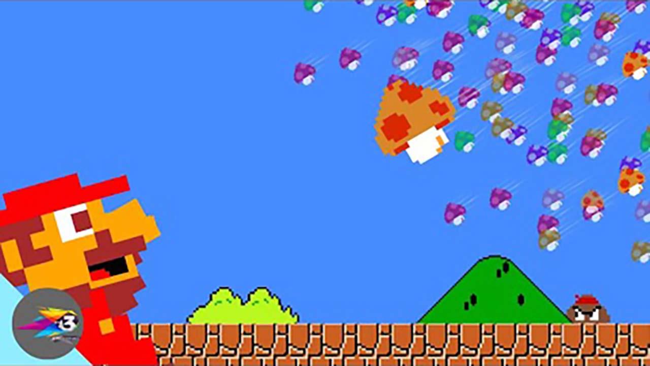 超级玛丽:马里奥超搞笑动画,天降蘑菇雨!