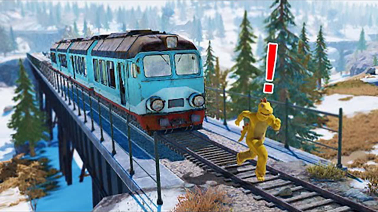 绝地求生:吃鸡搞笑集锦,被火车追赶是一种怎样的体验?