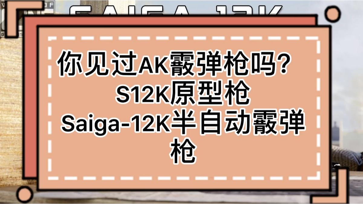 你见过AK霰弹枪吗? S12K原型枪Saiga-12K