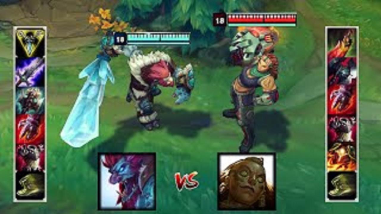 LOL:满级巨魔VS满级俄洛伊,哪个英雄更强?