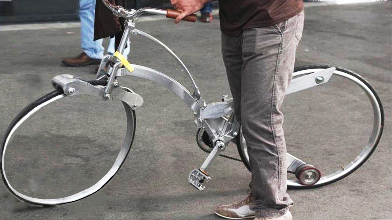 4种难以置信的自行车,第1种车轮空空的,第4种敢和火车拼速度