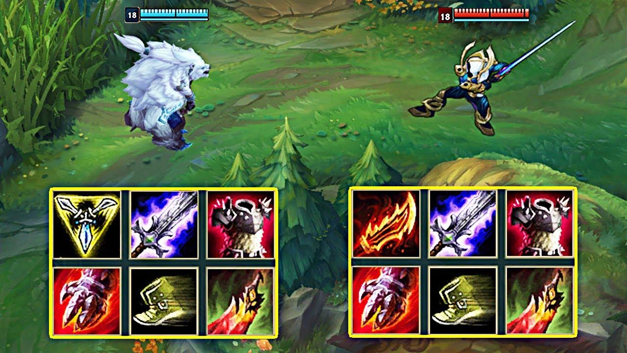 LOL:满级新版狗熊VS剑圣,哪个英雄更强?