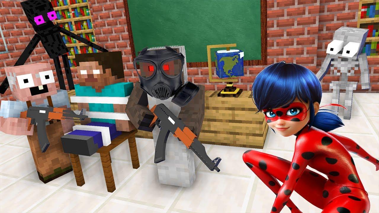 我的世界:另类搞笑版怪物学院,当学校遭遇抢劫事件