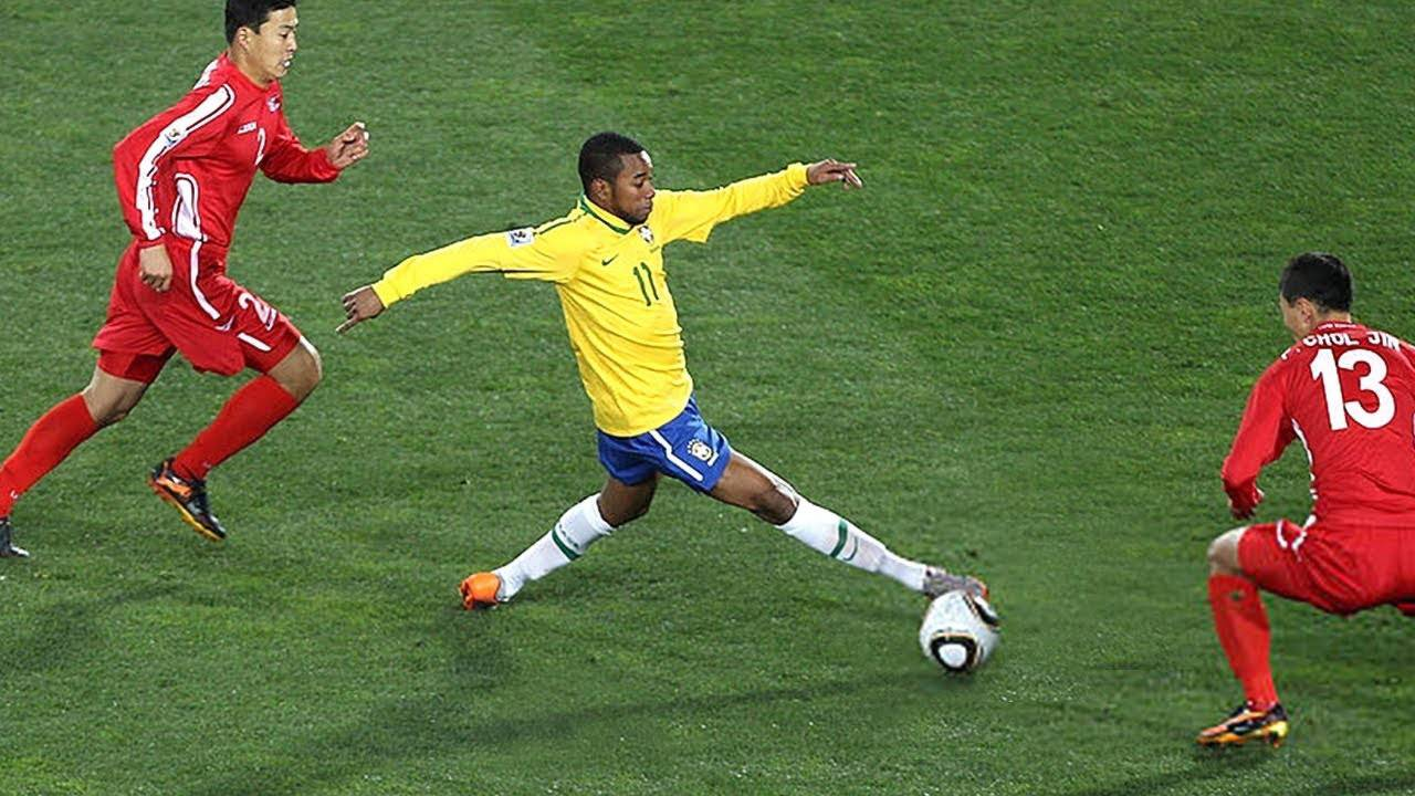 据说他是内马尔的足球偶像!看完这个视频之后我信了