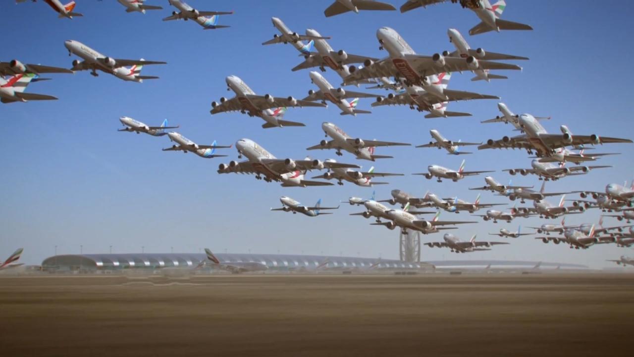 日起落高达千架的繁忙空港!全球航空网络的中东枢纽?