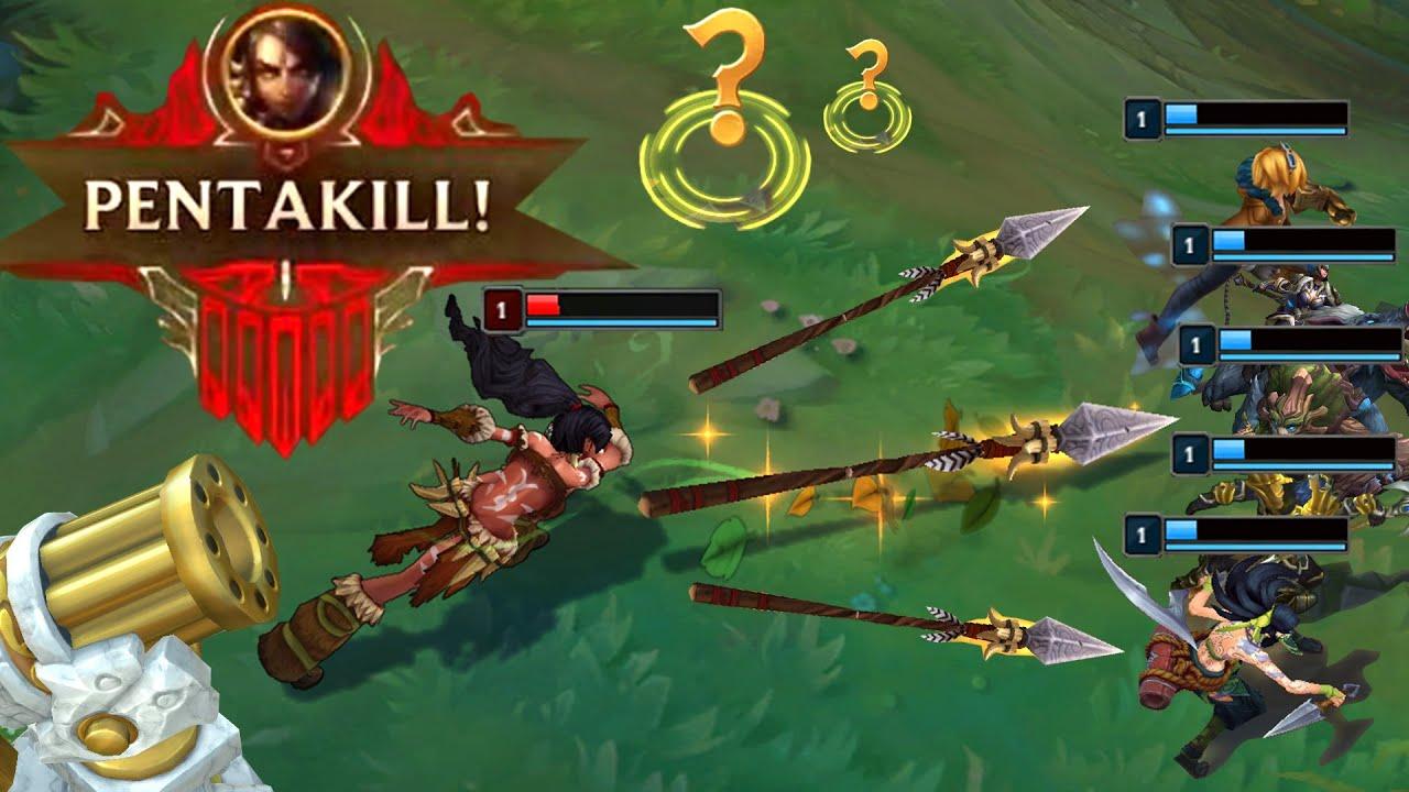 LOL:无限火力精彩集锦,豹女的漫天长矛怎么躲啊