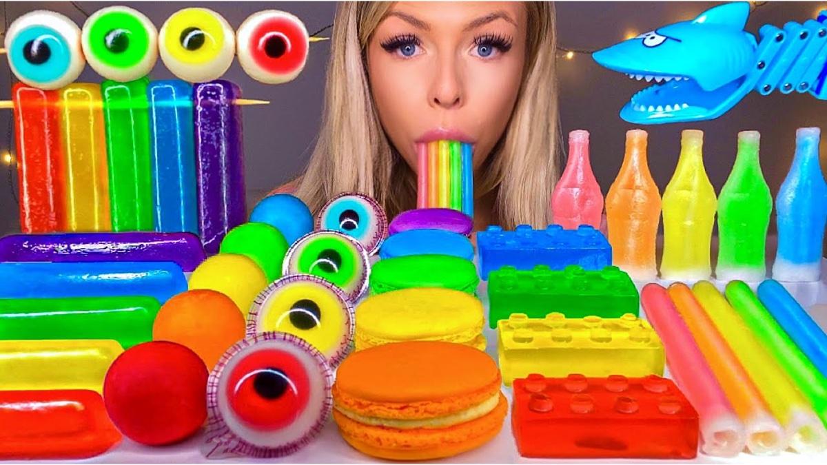 【糖果吃播】彩虹马卡龙,催眠解压。
