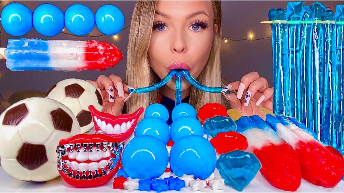【糖果吃播】蓝色糖果,催眠解压。