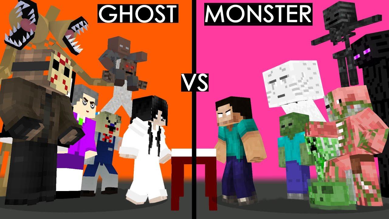 我的世界:另类搞笑版怪物学院,超自然生物vs学院学生