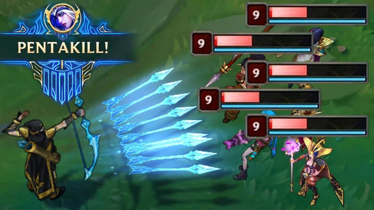 LOL:精彩五杀集锦,一个技能拿五杀难得一见