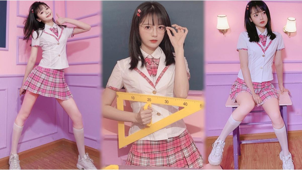 超可爱韩国妹妹!在教室跳BLACKPINK新歌ice cream~【阿呆】