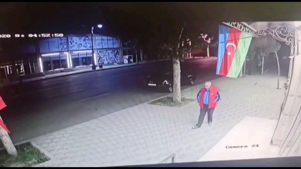 亚美尼亚导弹落入阿塞拜疆城区监控视频资料
