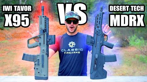 Desert Tech MDRX vs IWI Tavor X95 对比测试